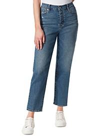 Throwback High-Rise Straight-Leg Jeans