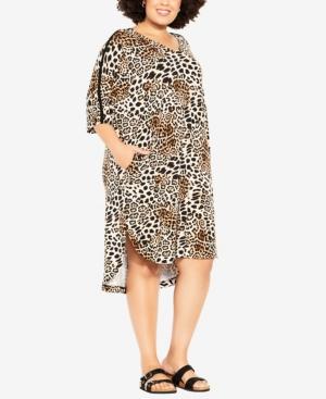 Plus Size Knit Pocket Dress
