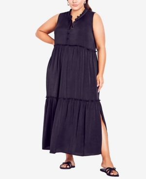 Plus Size Mabel Tiered Maxi Dress