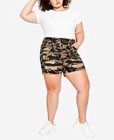 Plus Size Kiera Rip Shorts