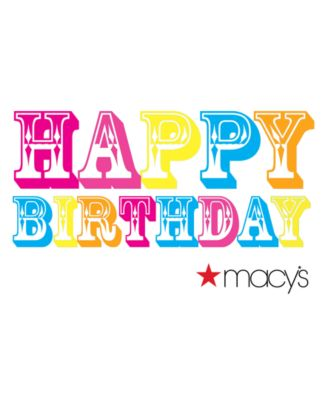 Happy Birthday Color E-Gift Card - Gift Cards - Macy's