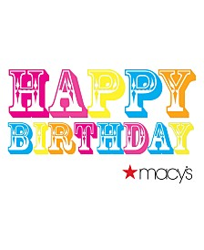 Happy Birthday Color E-Gift Card
