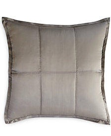 Donna Karan Home Reflection Silver Quilted European Sham