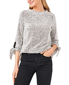 Elbow Sleeve Boucle Snit Top