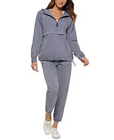 Women's Garment-Dyed 1/2-Zip Hoodie