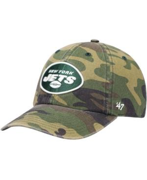 47 Brand New York Jets Woodland Clean Up Adjustable Cap