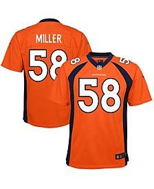Youth Denver Broncos Von Miller Orange Team Color Game Jersey