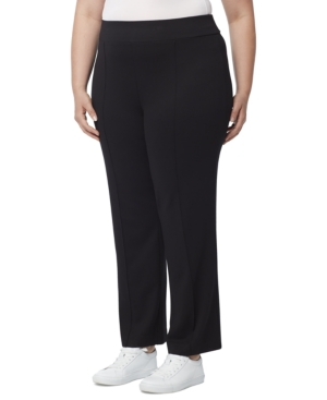 Plus Size Serenity Knit Pintucked Pull-On Pants