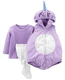 Baby Girls 3 Piece Little Unicorn Halloween Costume Set