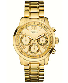 GUESS Women's Gold-Tone Stainless Steel Bracelet Watch 42mm U0330L1
