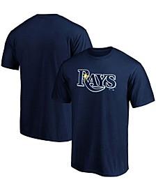 Men's Navy Tampa Bay Rays Official Wordmark T-shirt