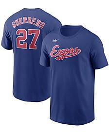 Men's Vladimir Guerrero Blue Montreal Expos Cooperstown Collection Name Number T-shirt