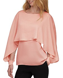 Petite Long-Sleeved Cape Top