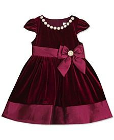 Baby Girls Burgundy Velvet Dress