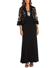 Lace-Top Gown & Lace Jacket