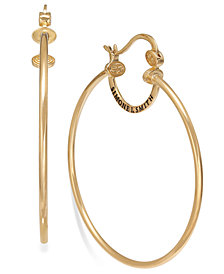 SIS by Simone I Smith Everlasting Love Hoop Earrings in 18k Gold over Sterling Silver