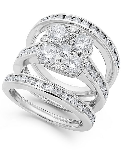 Macy's Diamond Engagement Ring Bridal Set in 14k Gold (3-3/4 ct. t.w.)