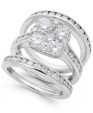 Diamond Engagement Ring Bridal Set in 14k Gold (3-3/4 ct. t.w.)