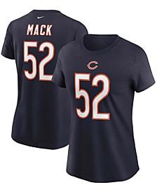 Women's Khalil Mack Navy Chicago Bears Name Number T-shirt