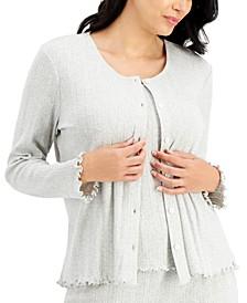 Cotton Pointelle Sleep Cardigan, Created for Macy's