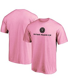 Men's Big and Tall Inter Miami CF Pink Primary Logo T-shirt
