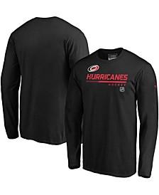 Men's Black Carolina Hurricanes Authentic Pro Core Collection Prime Long Sleeve T-shirt