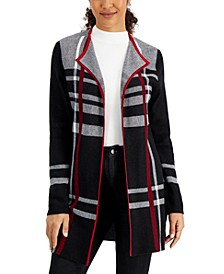 Printed Open-Front Jacket