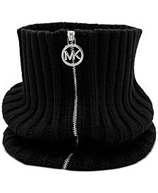 Rib Knit Zip Neckwarmer