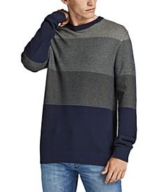 Men's Finn Textured Colorblocked Stripe Sweater