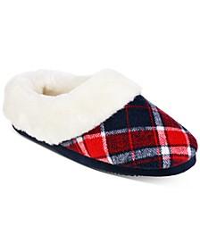 Plaid Paige Hoodback Boxed Slippers