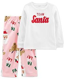 Baby Girls 2-Pc. Santa Pajamas