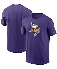 Men's Purple Minnesota Vikings Primary Logo T-shirt