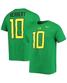 Men's Justin Herbert Green Oregon Ducks Alumni Name Number T-shirt
