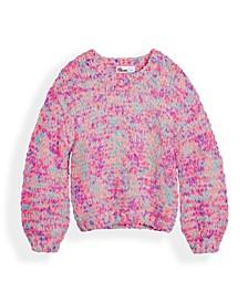 Big Girls Confetti Balloon Sleeve Sweater