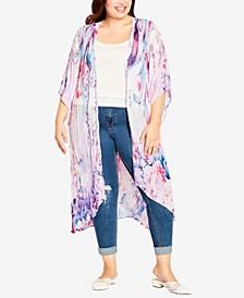 Plus Size Magnolia Crush Kimono