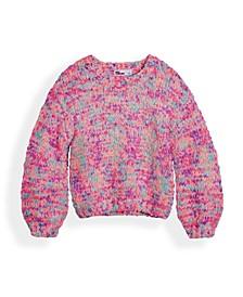 Toddler Girls Confetti Balloon Sleeve Sweater
