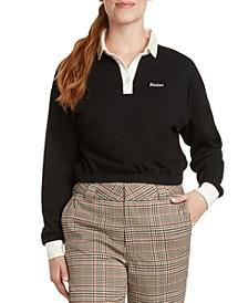 Cotton Elastic-Hem Polo Shirt