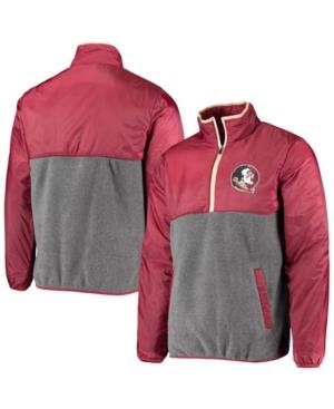 Men's Gray Florida State Seminoles College Advanced Transitional Half-Zip Jacket