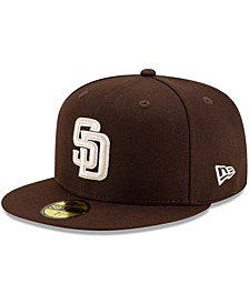Men's Brown San Diego Padres Alternate Authentic Collection On-Field 59FIFTY Fitted Hat
