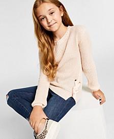 Big Girls Lace Up Side Sweater