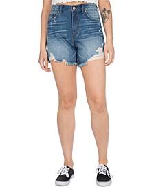 Juniors' Ripped Denim Shorts