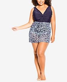 Plus Size Tropics Sarong Skirt
