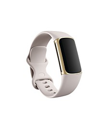 Charge 5 Lunar White Silicone Band Fitness and Health Tracker