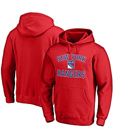 Men's Red New York Rangers Victory Arch Pullover Hoodie