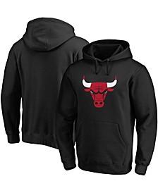 Men's Black Chicago Bulls Primary Team Logo Pullover Hoodie