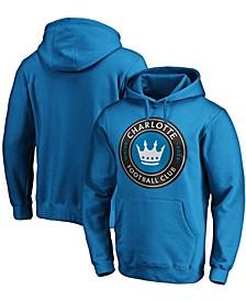 Men's Blue Charlotte FC Primary Logo Pullover Hoodie