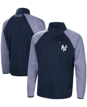 Men's Navy New York Yankees Freestyle Transitional Raglan Full-Zip Jacket