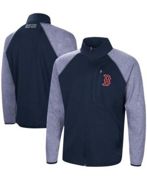 Men's Navy Boston Red Sox Freestyle Transitional Raglan Full-Zip Jacket