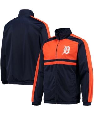 Men's Navy Detroit Tigers Full-Zip Track Jacket
