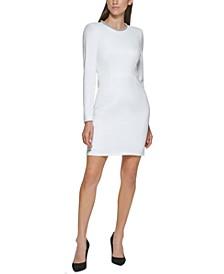 Embellished-Neck Dress